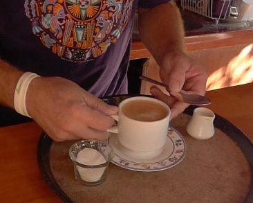 coffee at the octopus's garden restaurant