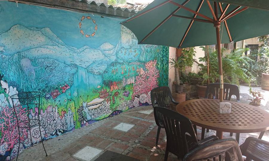 mural painting at the octopus's garden