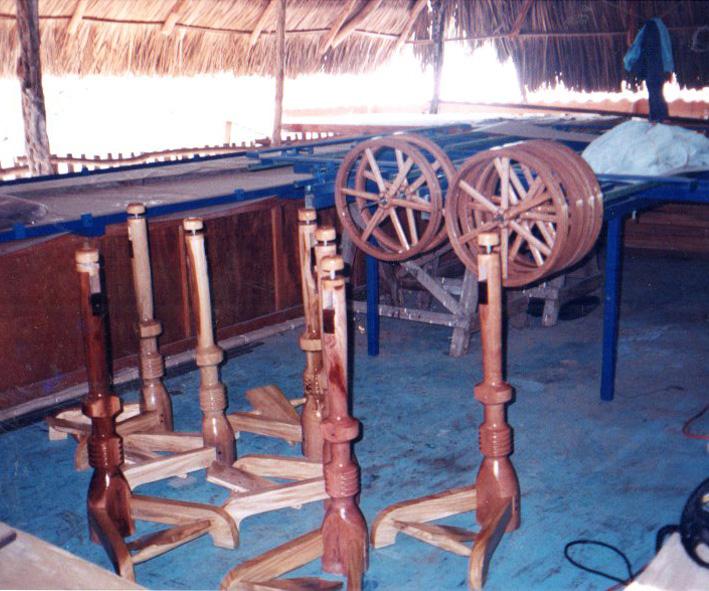 Assembling the spinning wheels