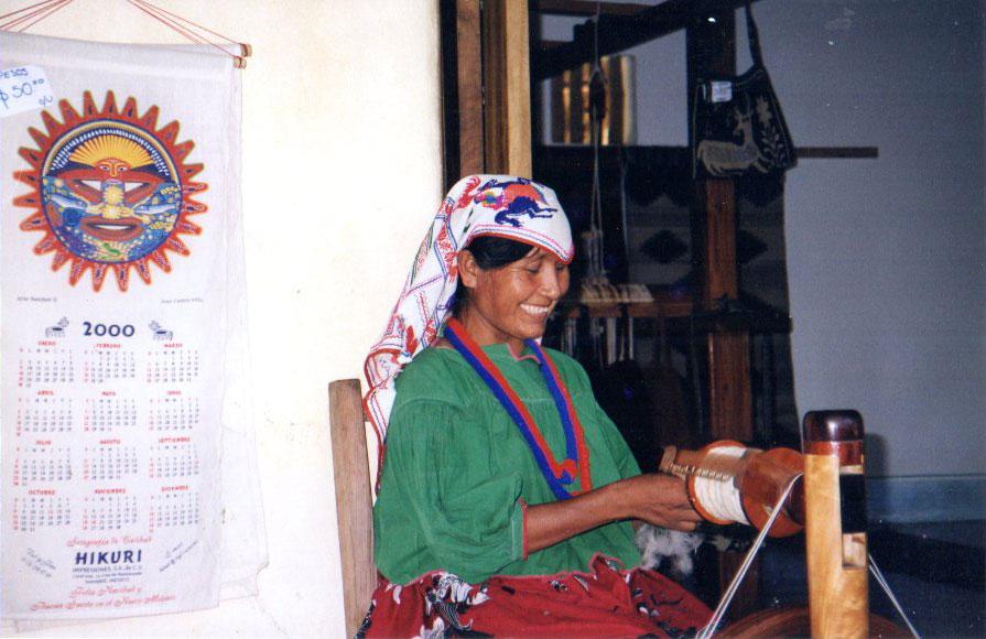 Huichol Teacher Spinning