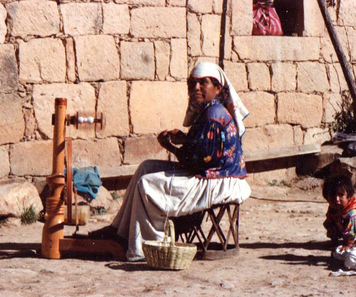 Huichol spinner of Nueva Colonia