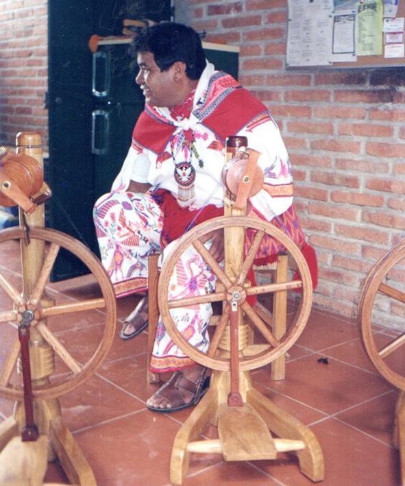 Mariano takes wheels to the Huichol Center